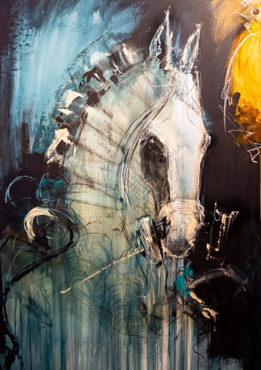 Pintura Caballos Eduardo Agelvis 2019